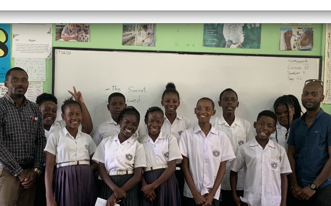 SVGCA furnishes Secondary School with $10,000 whiteboards